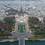 Blick auf den Jardin du Trocadero