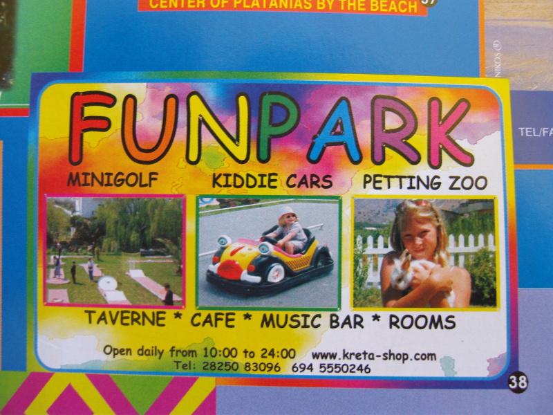 Anzeige des Funpark in einer Broschüre der Municipality von Chania (Xania) auf Kreta