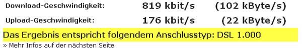 Speedtest von wieistmeineip.de
