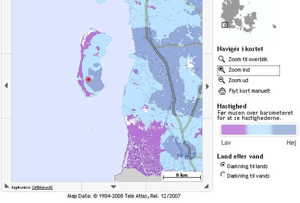 UMTS Abeckung der Insel Römö