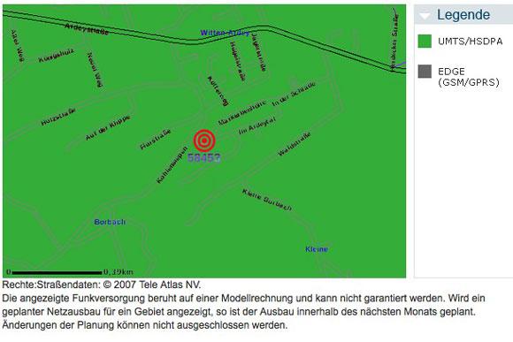 UMTS-Versorgung in Witten-Ardey